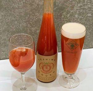 グラスに注がれた男気トマトジュース